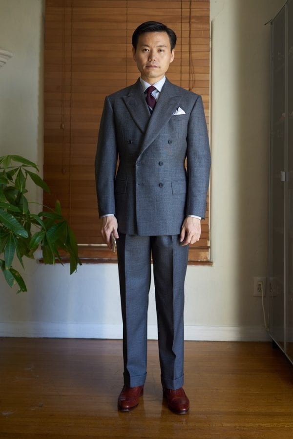 Bespoke tailored grey suit by Steed