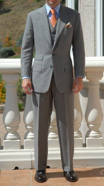 Grey complete custom bespoke tailored suit LL Brisa Monty 5