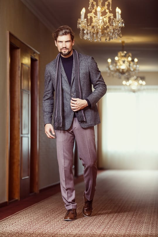 Semi bespoke casual tailored sports coat in grey