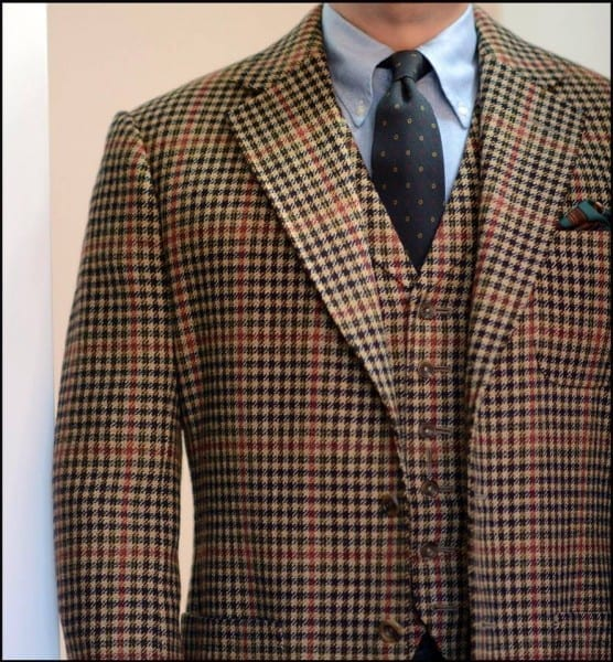 custom bespoke 3 piece suit LL gun club 10