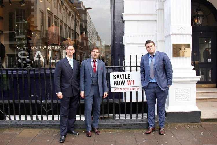 custom bespoke suit tailors Edwin and Matthew DeBoise Savile Row hp 3 rs